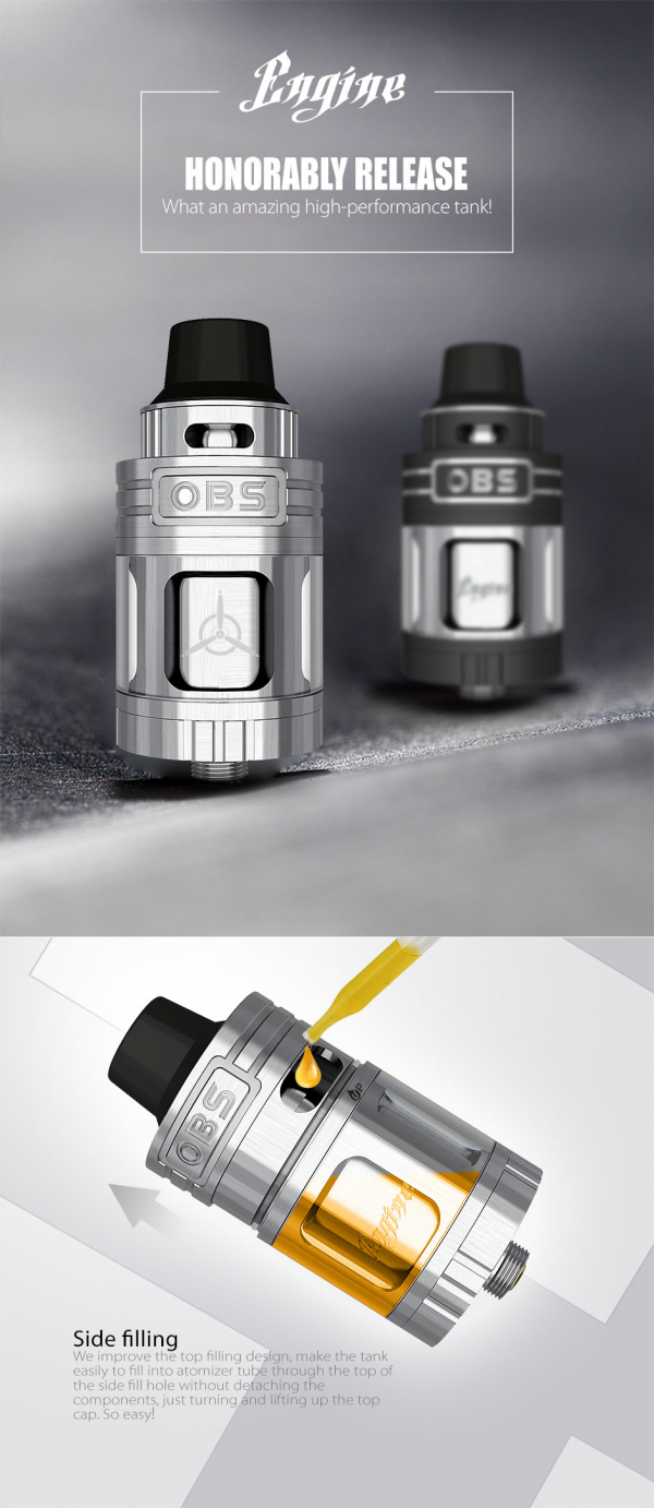 OBS Engine RTA Tank//5.2 ml/Silver Color