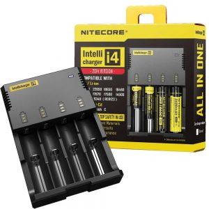 NITECORE I4- FAST INTELLICHARGER ALL IN ONE BATTERY CHARGER -LI-ION/IMR/LIFEPO4 (SUITABLE)