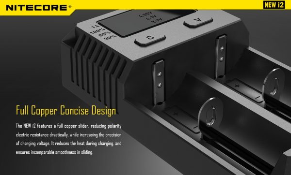 Nitecore i2- Fast Intellicharger ALL in ONE Battery Charger -Li-ion/IMR/LiFePO4 (suitable)