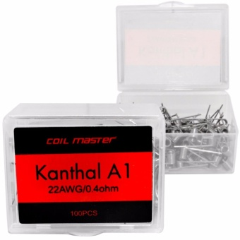 Coil Master Pre-made A1 Kanthal Coil/ 26 AWG/0.6 Ohm/ 100pcs
