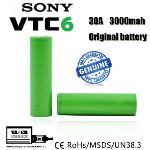 SONY VTC6 18650 BATTERY -3000 MaH 15A Continous - 100% Authentic
