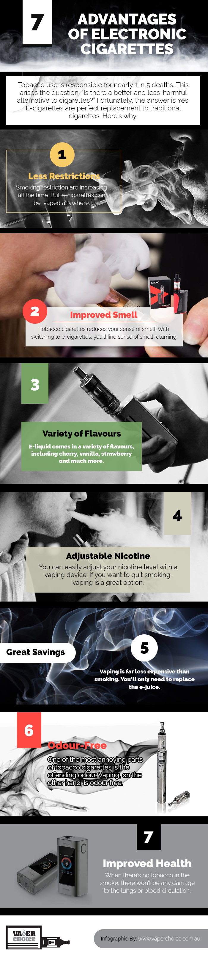 7 Advantages Of Electronic Cigarettes