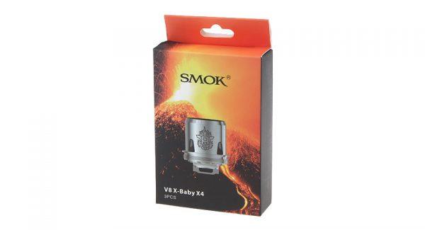 SMOK V8 X-Baby Q2 / M2 / X4/ T6 Coils 3pcs/pack - V8 X-Baby X4 0.13ohm Quadruple coils