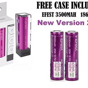 efest 3500mah 20A -18650 Batteries- Free case