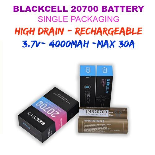 BLACKCELL 20700 30A - 3.7V - 4000mAh - 30A (1pc/pack)
