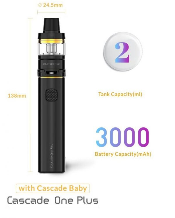 Vaporesso Cascade One Plus Starter Kit w/ Cascade Baby Tank / 3000mAh build-in battery