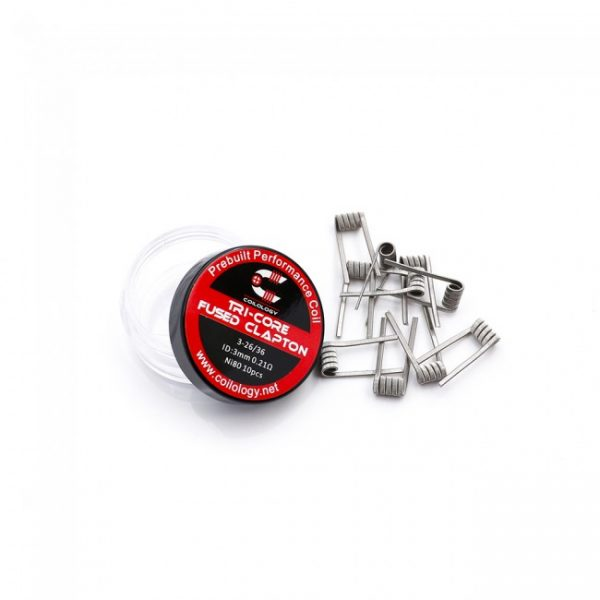 Coilology Tri-Core Fused Clapton Prebuilt Coils (10pc)