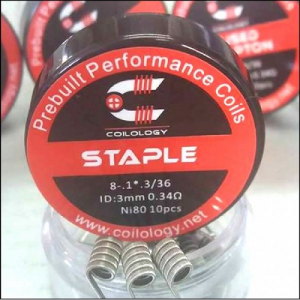 Coilology- Staple Prebuilt Coils (10pc)