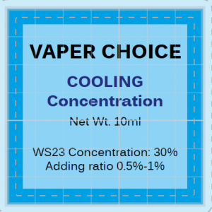 COOLING CONCENTRATION BY VAPER CHOICE - 10ML -30% WS23